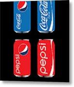 Coca Cola And Pepsi Metal Print