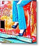 Coca-cola And Stiletto Heels Metal Print