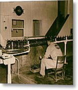 Coca Cola Bottling Line 1950s Metal Print