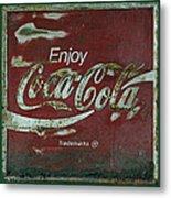 Coca Cola Green Grunge Sign Metal Print