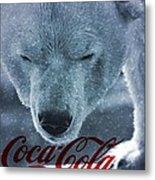 Coca Cola Polar Bear Metal Print