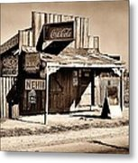 Coca Cola Shack Metal Print