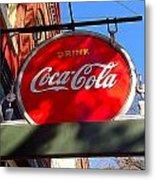 Coca Cola Sign In Georgia Metal Print