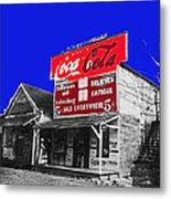 Coca-cola  Sign Palace Cafe Sumter South Carolina 1912-2013   Metal Print