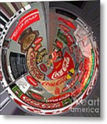 Coca Cola Signs In The Round Metal Print