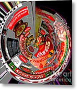 Coca Cola Signs In The Round Posterized Metal Print