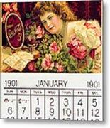 Coca - Cola Vintage Calendar Metal Print