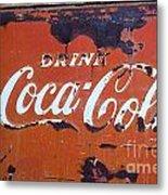 Cocacola Ice Box Metal Print