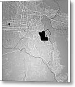 Cochabamba Street Map - Cochabamba Bolivia Road Map Art On Color Metal Print