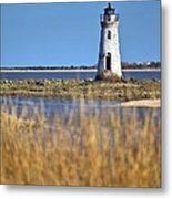 Cockspur Lighthouse In The Sanannah River Metal Print