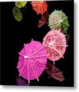 Cocktail Umbrellas Xii Metal Print