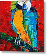 Coco The Talkative Parrot Metal Print