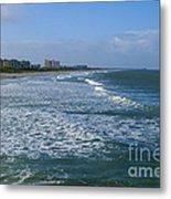 Cocoa Beach Seascape Metal Print