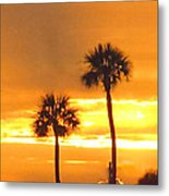 Cocoa Beach Sunset Metal Print