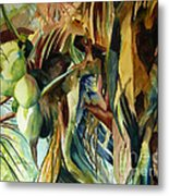 Coconuts And Palm Fronds 5-16-11 Julianne Felton Metal Print