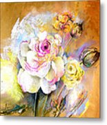 Coeur De Rose Metal Print