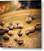 Coffe Beans Metal Print