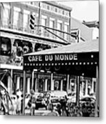 Coffee And Beignets Metal Print