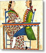 Coffee And Conversation Metal Print
