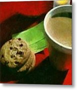 Coffee And Cookies At The Cafe Metal Print