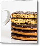 Coffee And Cookies. Metal Print