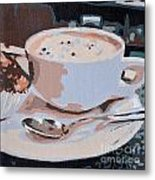 Coffee And Cupcake Metal Print