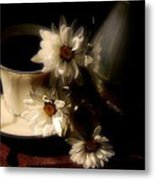 Coffee And Daisies  Metal Print