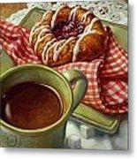 Coffee And Danish Metal Print