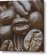 Coffee Bean Macro Metal Print