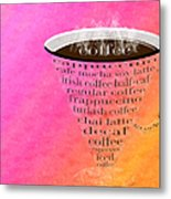 Coffee Cup The Jetsons Sorbet Metal Print