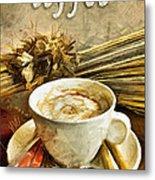 Coffee - Drawing Metal Print