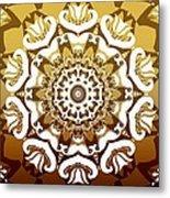Coffee Flowers 10 Calypso Ornate Medallion Metal Print