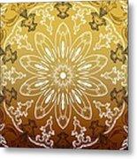Coffee Flowers 11 Calypso Ornate Medallion Metal Print