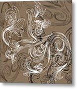 Coffee Flowers 2 Metal Print