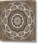 Coffee Flowers 2 Ornate Medallion Metal Print