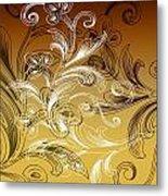 Coffee Flowers 4 Calypso Metal Print