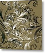Coffee Flowers 4 Olive Metal Print by Angelina Vick