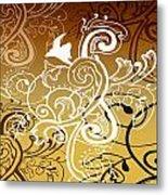 Coffee Flowers 5 Calypso Metal Print