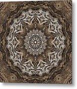 Coffee Flowers 6 Ornate Medallion Metal Print