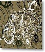 Coffee Flowers 7 Olive Metal Print