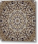 Coffee Flowers 7 Ornate Medallion Metal Print