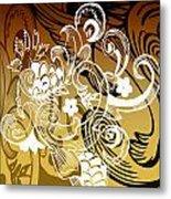 Coffee Flowers 8 Calypso Metal Print