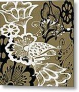 Coffee Flowers 9 Olive Metal Print