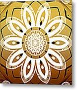 Coffee Flowers Medallion Calypso Triptych 2  Metal Print