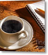 Coffee For The Writer Metal Print