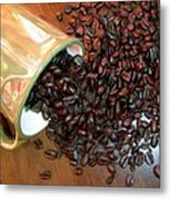 Coffee From A Cup Metal Print