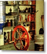 Coffee Grinder And Canister Of Sugar Metal Print
