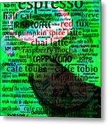 Coffee Lovers Diary 5d24472p108 Metal Print