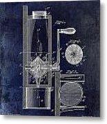 Coffee Mill Patent 1893 Blue Metal Print