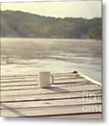 Coffee On The Dock Metal Print by Kay Pickens